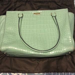 Kate Spade Mint Crocadile Leather Tote
